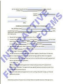 Florida Court Forms Interactive Fillable Divorce Form