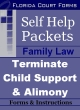 Florida Court Forms Self Help Packet Request to Terminate Child Support or Alimony